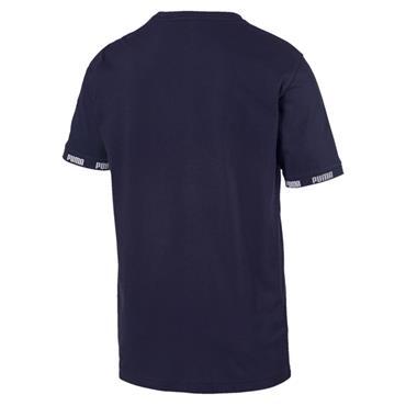 PUMA Mens Amplified Big Logo T-Shirt - Navy