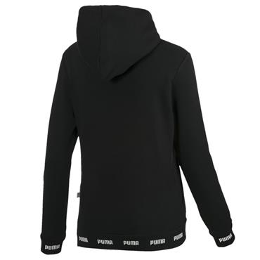 PUMA WOMENS AMPLIFIED HOODY - BLACK/WHITE