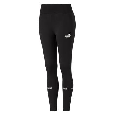 PUMA WOMENS AMPLIFIED LEGGINGS - BLACK
