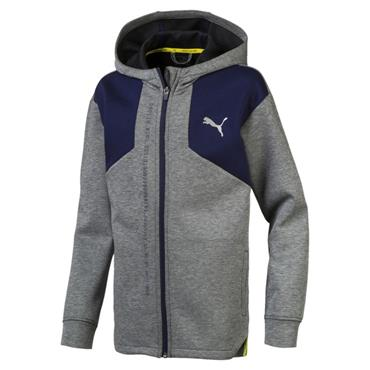 Puma Boys Energy Hooded Jacket - Grey