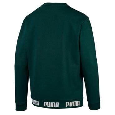 PUMA Mens Amplified Crew Neck Sweater - Green