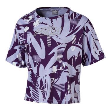 PUMA Girls Alpha T-Shirt - Purple