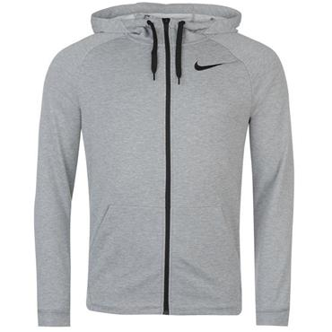 Nike Mens Dry Full Zip Fleece Hoodie - Grey