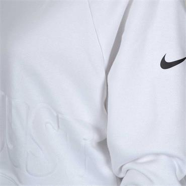NIKE WOMENS GRAPHIC CROPPED SWEATER - WHITE