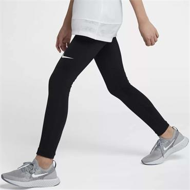 Nike Pro Girls Leggings - BLACK