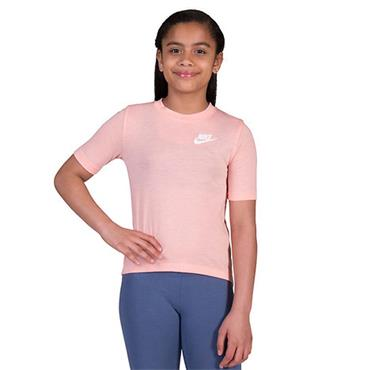NIKE GIRLS SHORT SLEEVE TSHIRT - PINK
