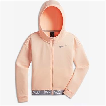 NIKE GIRLS FULL ZIP HOODIE - ORANGE