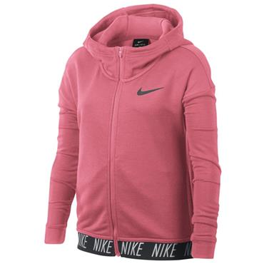 NIKE GIRLS STUDIO FULL ZIP HOODIE - PINK
