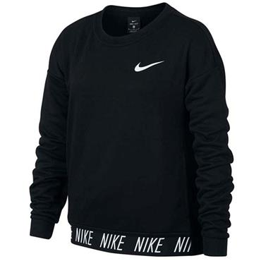 NIKE GIRLS DRY CREW TOP - BLACK