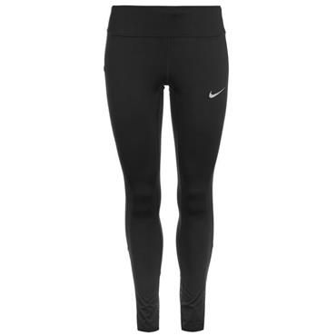 NIKE WOMENS RACE TIGHT FIT LEGGINGS - BLACK