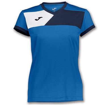 Joma Womens Fit Crew II T-Shirt - Navy/Blue