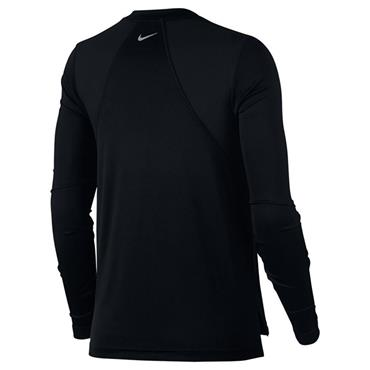 NIKE WOMENS MILER LONG SLEEVE TOP - BLACK