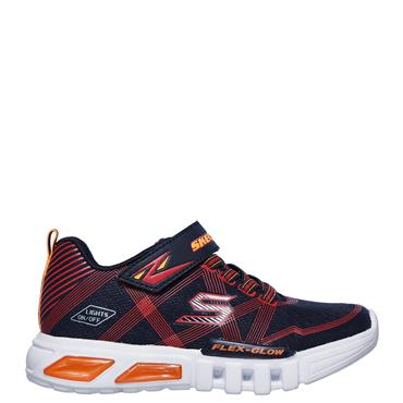 Skechers Infants Flex Glow Trainers - Navy