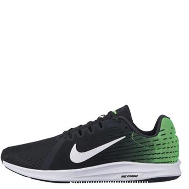 NIKE MENS DOWNSHIFTER 8 TRAINERS - BLACK/GREEN