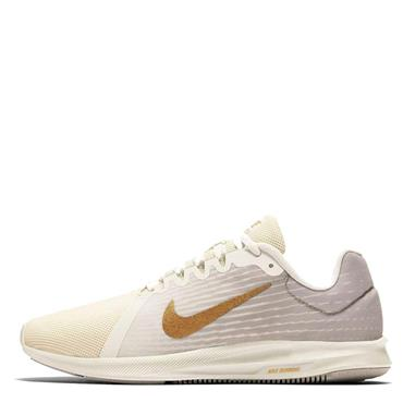 NIKE WOMENS DOWNSHIFTER 8 - WHITE/GOLD