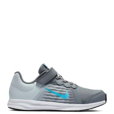 NIKE BOYS DOWNSHIFTER TRAINERS PS - GREY/WHITE