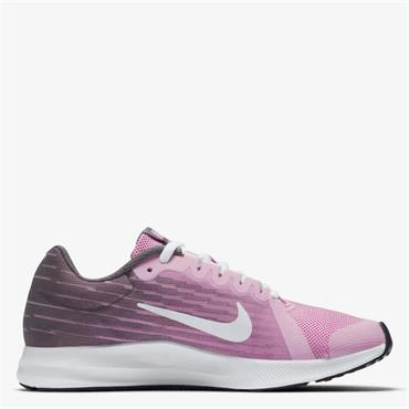NIKE GIRLS DOWNSHIFTER 8 TRAINERS - PINK/GREY