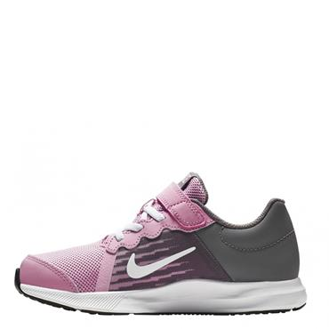 NIKE GIRLS DOWNSHIFTER TRAINERS PSV - PINK/GREY