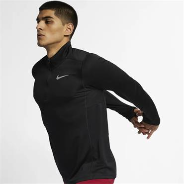 Nike Mens Pacer Half Zip Running Top - Black