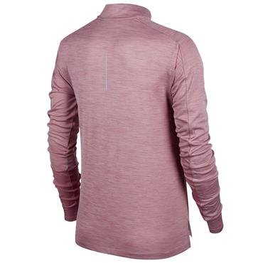 NIKE WOMENS PACER HALF ZIP TOP - MAUVE