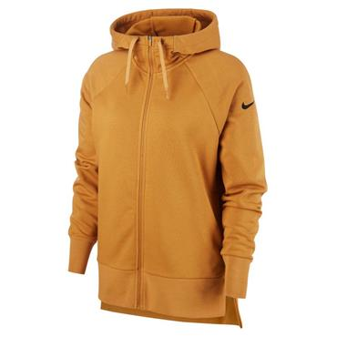 Nike Womens Dri-Fit Full Zip Hoodie - Gold