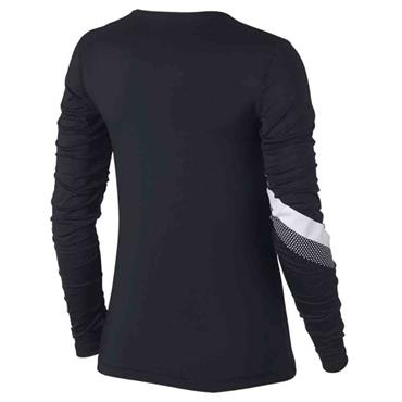 Nike Womens Long Sleeve Stripe GRX Top - BLACK
