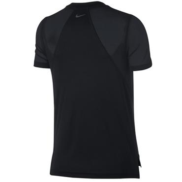 NIKE WOMENS RUNNING DRI FIT TSHIRT - BLACK
