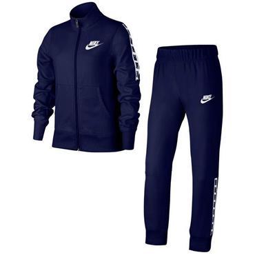 Nike Girls Sportswear Tracksuit - Navy