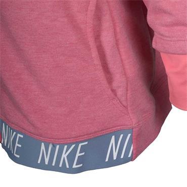 NIKE GIRLS DRI-FIT FULL ZIP HOODIE - PINK
