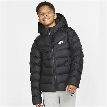 Nike Kids Synthetic Filled Jacket - BLACK