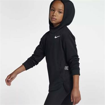 Nike Girls Training Pullover Hoodie - Black