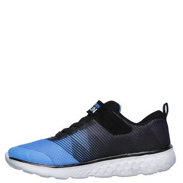 SKECHERS BOYS GO RUN 400 TRAINERS - BLACK/BLUE