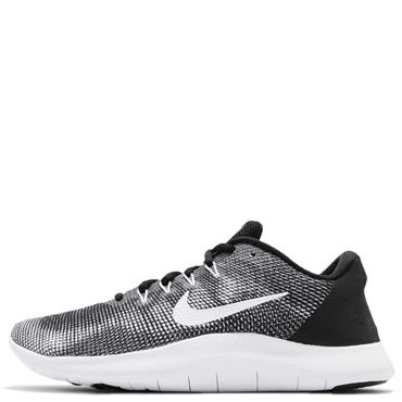 NIKE MENS FLEX RUNNING SHOE - BLACK/WHITE