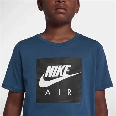 NIKE BOYS LOGO TSHIRT - BLUE/BLACK