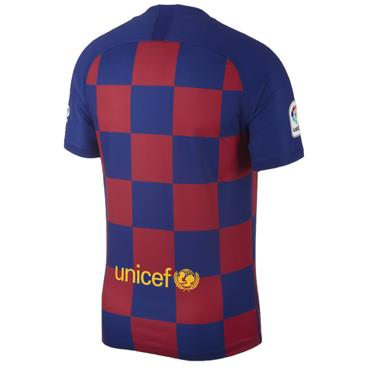 Nike Adults Barcelone Home Jersey 2019/20 - BURGANDY/BLUE