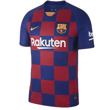 Nike Adults Barcelona Home Jersey 2019/20 - BURGANDY/BLUE