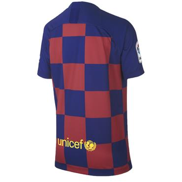 Nike Kids Barcelone Home Jersey 2019/20 - BURGANDY/BLUE