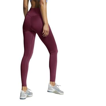 Nike Womens Mid Rise Leggings - Maroon