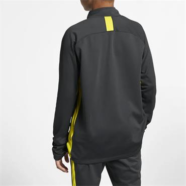 NIKE BOYS DRY ACADEMY HALF ZIP - GREY/YELLOW