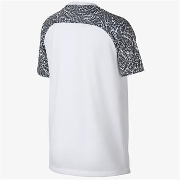 NIKE BOYS NEYMAR TSHIRT - WHITE/BLACK