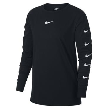 NIKE SPORTSWEAR LONG SLEEVED TOP - BLACK/WHITE