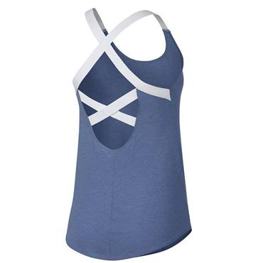 Nike Womens Dri-Fit Elastic Tank Top - Blue