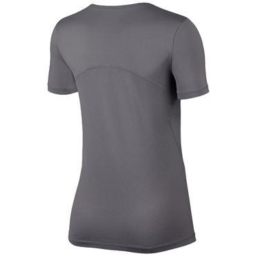 Nike Womens Pro Mesh T-Shirt - Grey