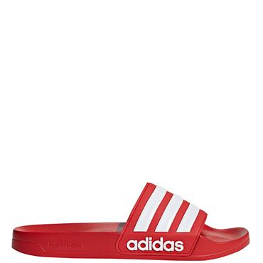 Adidas Mens Adilette Sliders - Red