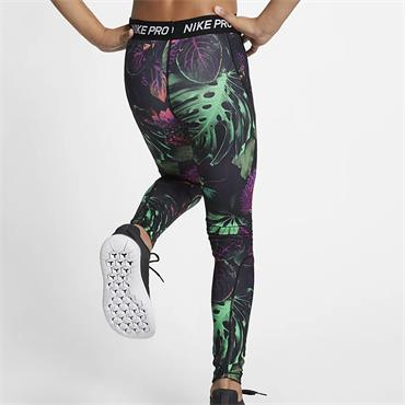 Nike Girls Pro Spring Print Leggings - Black Multi