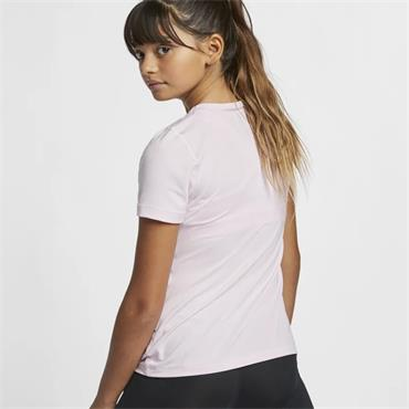 NIKE GIRLS PRO SHORT SLEEVE TSHIRT - PINK