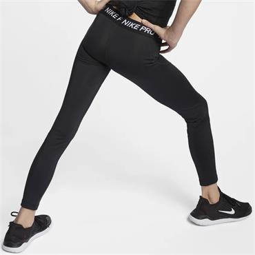 NIKE GIRLS PRO DRI-FIT LEGGINGS - BLACK
