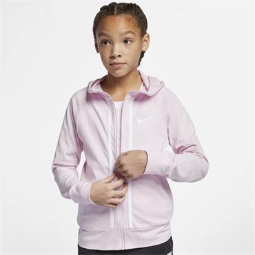 Nike Girls Full Zip Sportswear Hoodie - Pink
