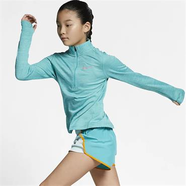 Nike Girls Half Zip Top - Green