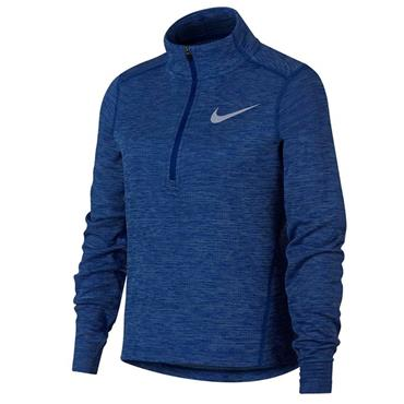 Nike Girls Long Sleeve Running Half Zip Top - Blue